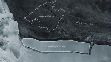 Od lodowca oderwała się największa góra świata. Cztery razy większa od Nowego Jorku