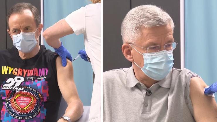 Tomasz Grodzki i Stanisław Karczewski zaszczepili się przeciw koronawirusowi