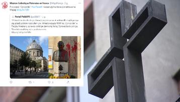 Francja. Pomnik św. Jana Pawła II oblany farbą