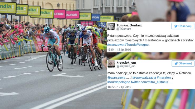 """""""Tour de Masakra"""". Internauci nie kryją oburzenia organizacją kolarskiego wyścigu w stolicy"""