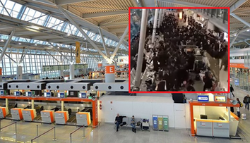 Tańce i śpiewy na lotnisku Chopina. Grupa Żydów łamała obostrzenia