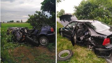 Zderzenie trzech aut. Wśród poszkodowanych kobieta w ciąży i dzieci