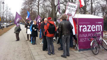 Szef OPZZ poparł protest partii Razem ws. publikacji wyroku TK
