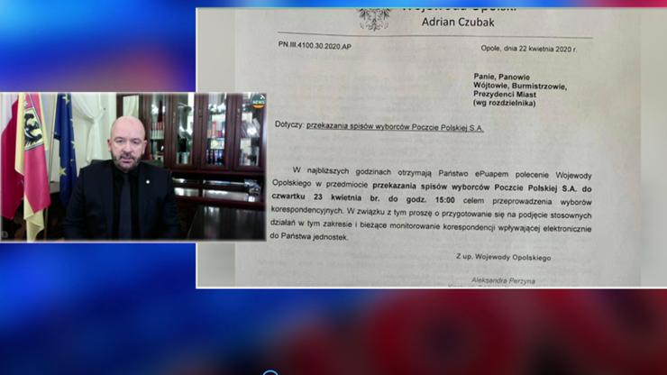 Sutryk: Poczta Polska nie jest uprawniona do otrzymania list wyborców