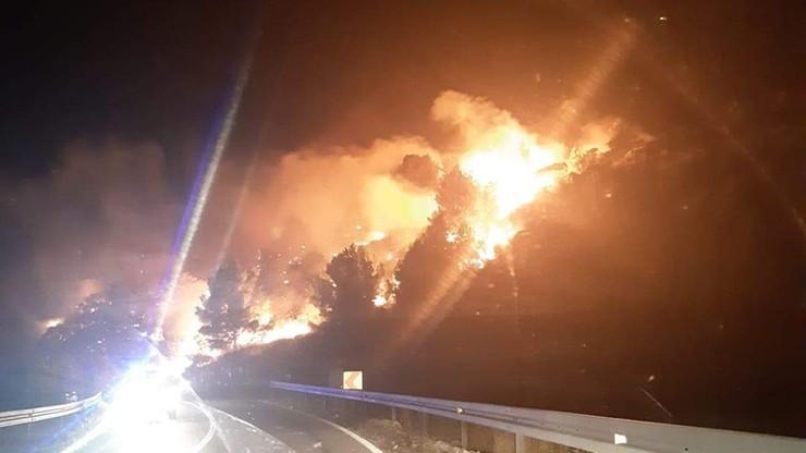 Pożary lasów w Chorwacji. Zagrożenie w okolicach Szybenika